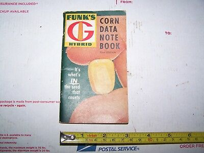 Funk's G Hybrid Seed Corn Memo Book, 1960, Never Been Written In
