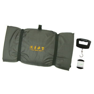 Carp Fishing Tackle Padded Sling Unhooking Mat + Fish Ruler + Weighing Scale