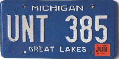 "USA Number Licence Plate MICHIGAN ""GREAT LAKES"""