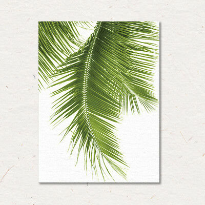 Watercolor Tropical Plants Leaves Wall Art Canvas Posters & Prints Minimalist Pa