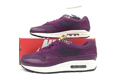 separation shoes 0bf9b c325f Nike Air Max 1 Premium Men s Shoes Bordeaux Black Moss 875844 601 Size 10.5