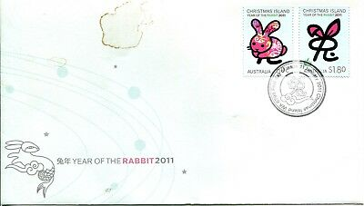 Christmas Island 2011 Year of the Rabbit FDC