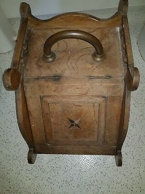 Vintage Wooden Coal Scuttle