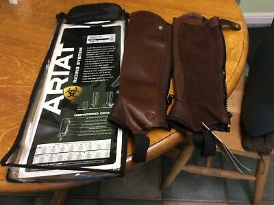 Ariat concord chaps brown size Xsm brand new