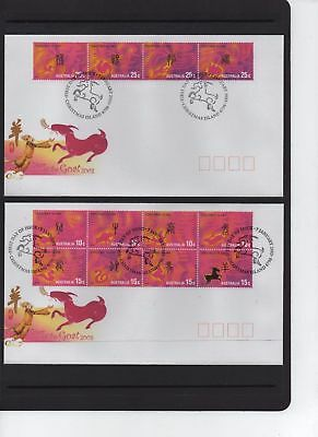 Christmas Island 2003 Year of the Goat Zodiac set of 2 FDC