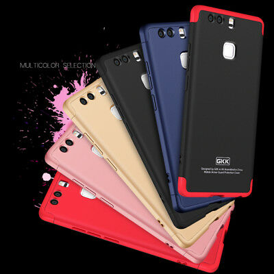 For HUAWEI P9 Shockproof 360° Full Protection Hybrid PC+Film Case Cover