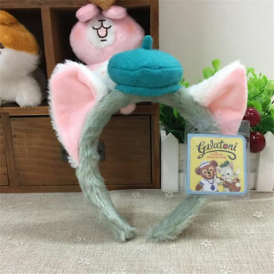 New Duffy friend Gelatoni Cat Ear Party Cosplay Props Plush Headband Costume