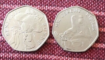 Uncirculated Tom Kitten And Me Jeremy Fisher 2017 50p From Mint Sealed Bags