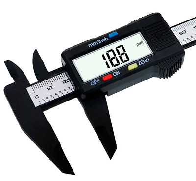 Carbon Fiber Vernier LCD Digital Electronic150mm 6inch Caliper Gauge Micrometer.