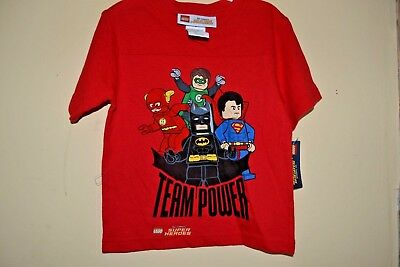 LEGO DC SUPER HEROES//13 CHARACTERS-BOYS SIZE 14//16-LICENSED SHORT SLEEVE-NWT