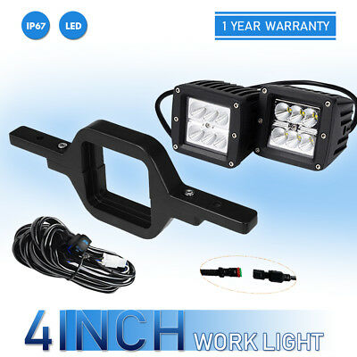 """For Ford F150 F250 F350 Backup Reverse 4"""" Tow Hitch 40W LED Light Bar +Wirings"""