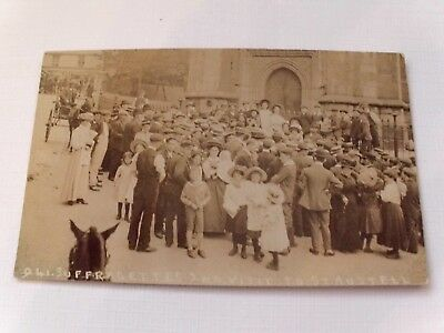 Real Photo postcard.Suffragettes visit to St Austell.