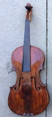 old violin for parts or repair with bow, case. needs work.