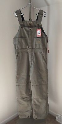 NWT Berne Women Work CANVAS Insulated Bib Overalls Pants Large L 14 16 WB515