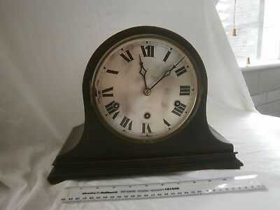 HAC Wurttemberg German Oak Bell-shaped Striking Mantle Clock