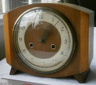 Smiths 1950's 8 day chiming Mantle Clock