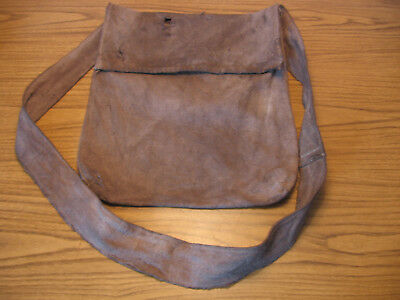 Reenactment Haversack Bag Pouch Walnut Hull Dyed Handmade by Black Heart Trader