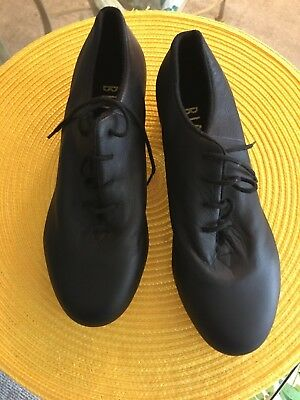 Bloch Shockwave Tap Dance Womens Size 6.5 M Black Leather New Slip-on Shoes