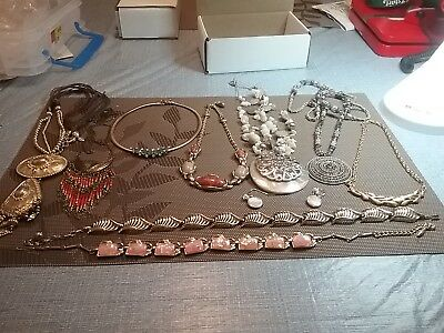 Beautiful lot of some vintage signed necklaces some signed