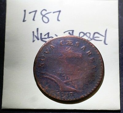 1787 New Jersey Colonial Copper Coin, Head Right, Genuine, but didn't look it up