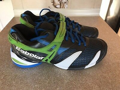 BABOLAT PROPULSE 3 All Court Tennis Shoes Trainers Black Blue Green UK 10.5