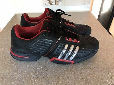 ADIDAS BARRICADE 6.0 MURRAY Blk/Red/Sliver Tennis Shoes Trainers UK 11