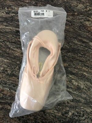 Brand New In Package BLOCK Pointe shoes ASPIRATION SO 105 Size 7 B Ballet Pink