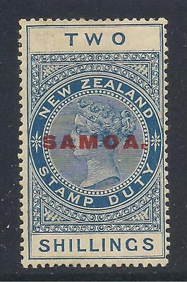 SAMOA  1918  2s deep blue  p141/2x14  SG127  MM