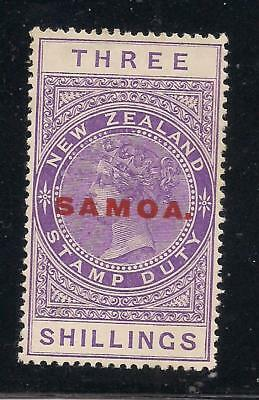 SAMOA  1923 opt  3s purple  SG129  MM