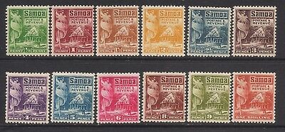 SAMOA  1921 definitive set  p14x131/2  SG153-64  MM