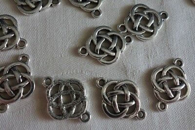 10 Antique Silver 24x18mm Celtic Connectors #3998 Combine Postage-See Listing