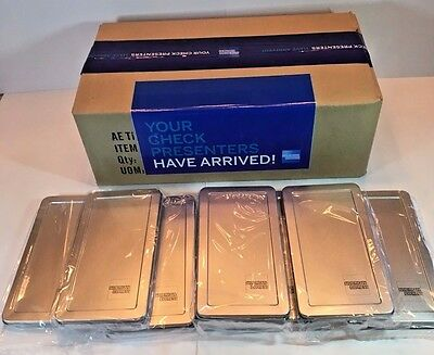 American Express 25 Silver Metal Tip Trays Check Presenters Free Ship Sale!!