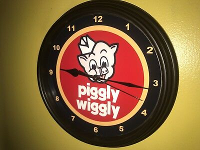 Piggly Wiggly Grocery Store Kitchen Diner Advertising Wall Clock Sign