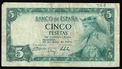 Spain Currency Paper Money 5P