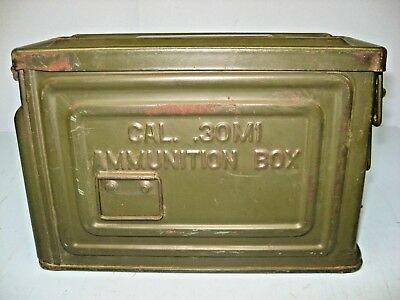 WWII Vintage Ammunition Can, .30 Cal M1, REEVES U,S. Flaming Bomb