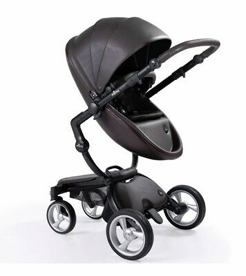 Chocolate Brown/Black Frame Mima Xari Baby Stroller (Fully Loaded)