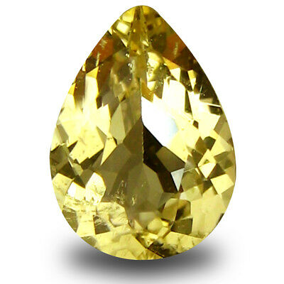 0.61 ct AAA Remarkable Pear Shape (8 x 6mm) Yellow Heliodor Beryl Loose Gemstone