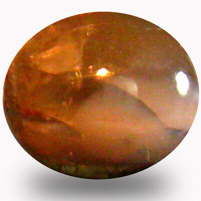1.31 ct Oval Cabochon (7 x 6 mm) UnHeated Color Change Alexandrite Cat's Eye Gem