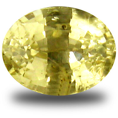 0.78 ct AAA Tremendous Oval Shape (5 x 4mm) Yellow Heliodor Beryl Loose Gemstone