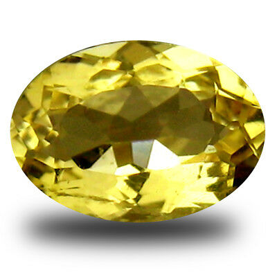 0.51 ct AAA Spectacular Oval (7 x 5 mm) Yellow Heliodor Beryl Loose Gemstone