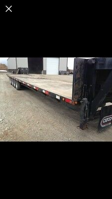 Travulite 8½' x 40' (40' Deck) Gooseneck Equipment Trailer 28k gvwr