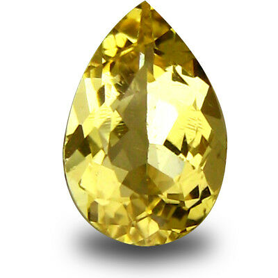 0.54 ct AAA Remarkable Pear Shape (8 x 5mm) Yellow Heliodor Beryl Loose Gemstone