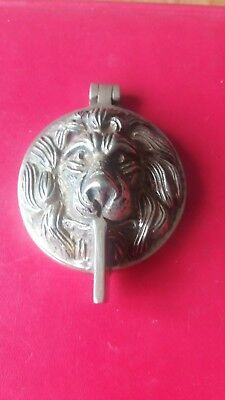 Antique/Vintage Brass Lion's Head Door Knocker / Yale Lock Cover Reclaimed