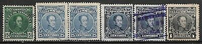 1916,1924 VENEZUELA SET OF 6 USED STAMPS (Michel # 96a,109A,112A,113A)