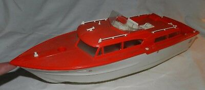 Vintage Phillips 66 Advertising Power Yacht - Battery operated Toy Boat - runs