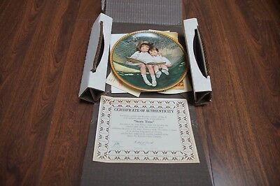 """1988 Knowles Bradford Exchange """"Story Time"""" Limited Edition Collectors Plate"""