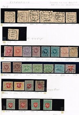 LITHUANIA STAMP Collection Lot
