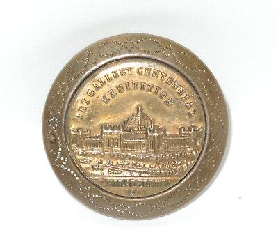 Rare 1876 Centennial Philadelphia Exposition Art Gallery Large Stud Button