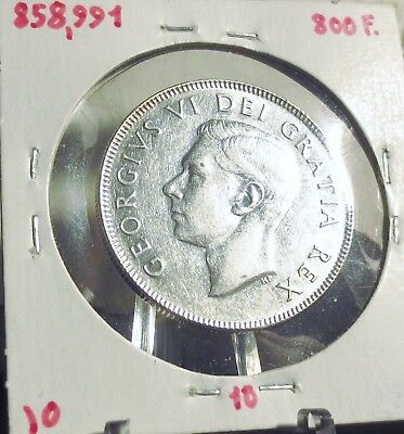 Canada 1949 Half Dollar George Vi .800 Silver..low Mintage..better Date