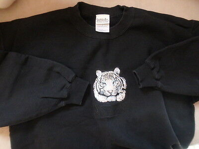 Siegfried & Roy Mirage Hotel White Tiger Sweatshirt Men's L Black